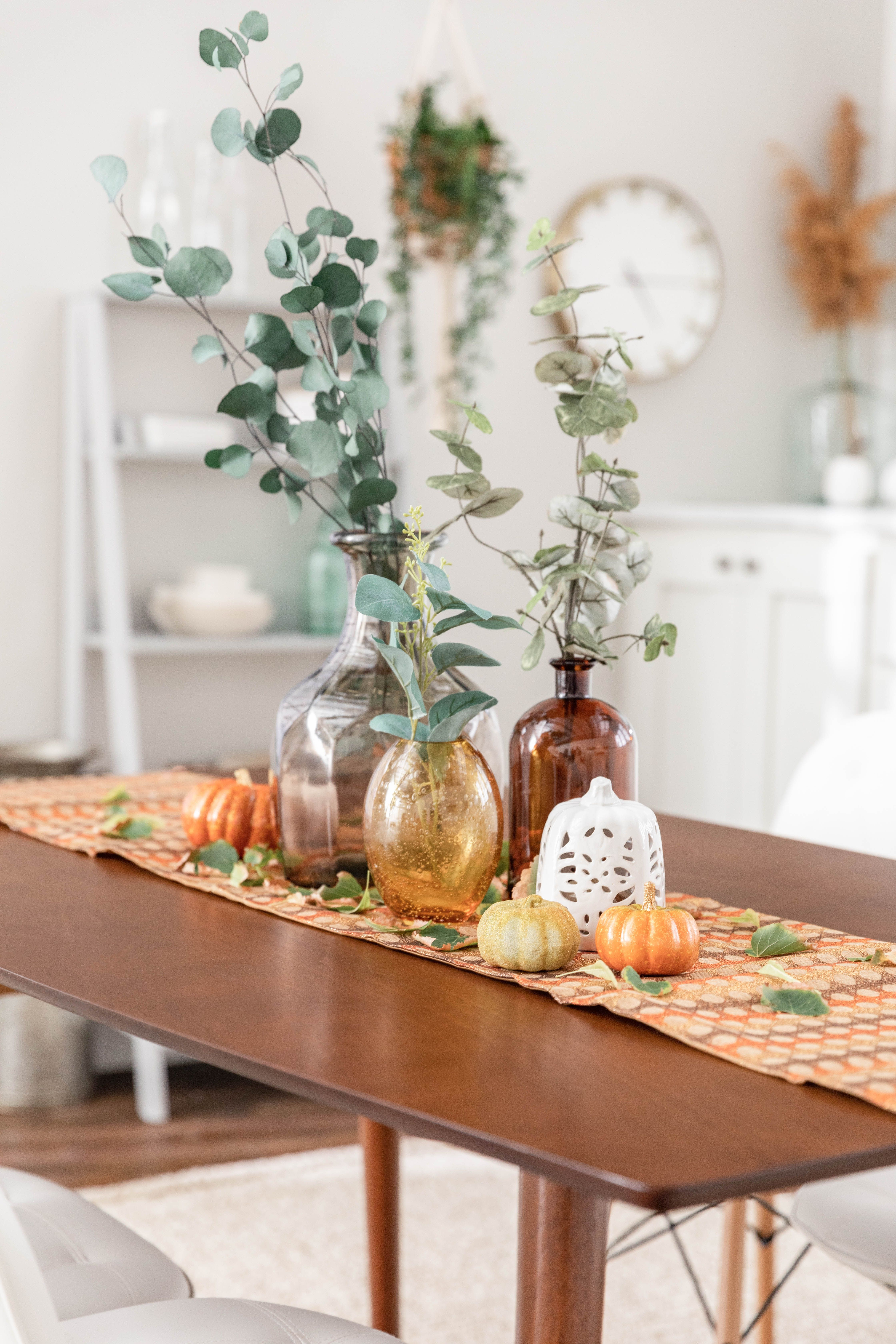 Mid Century Dining Table Dining Table Decor Centerpiece Fall Dining Table Decor Fall Dining Table
