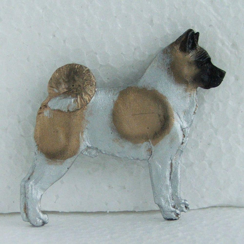 American Akita Brooch 1 Fawn Spots Dog Breed Jewellery
