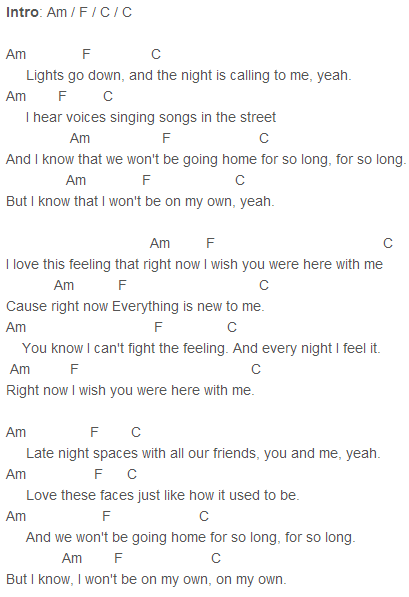 One Direction - Right Now Chords Capo 3   ⋆guitar ...