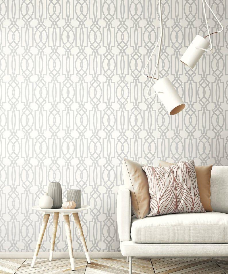 Wallpaper Gray Removable Wallpaper Vinyl Wallpaper Peel Etsy Grey Removable Wallpaper Peel And Stick Wallpaper Peelable Wallpaper