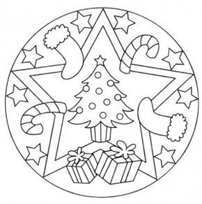 Several free Christmas themed mandalas on this website: http://www ...