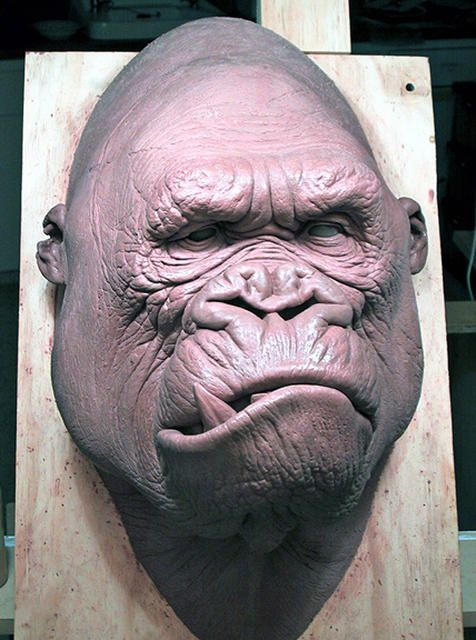 "Kong Head ""neutral"" by sculptor Miles Teves"