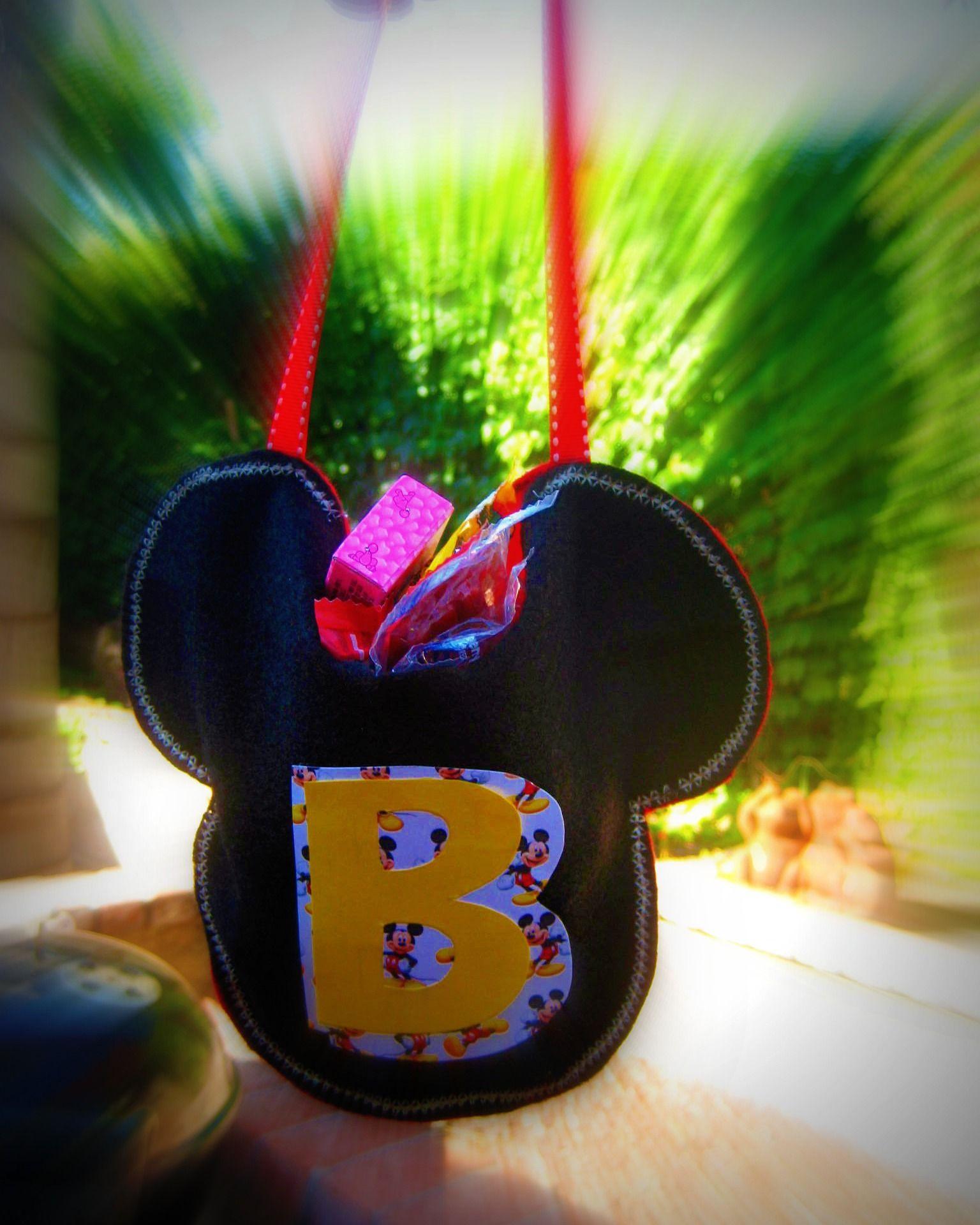 Custom Mickey candy bags.   By: aNicoleb