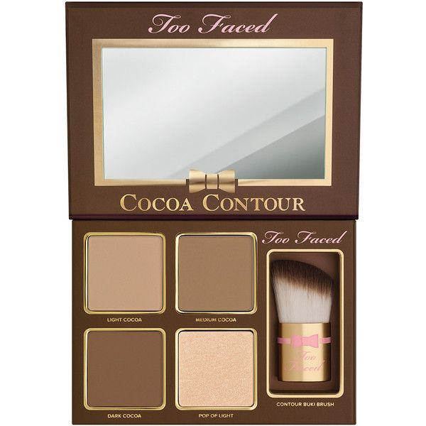 Cocoa Contour (145 BRL) ❤ liked on Polyvore featuring beauty products, makeup and palette makeup