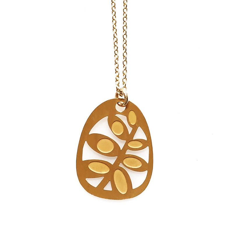Polli / Gold Plated Succulents Pendant