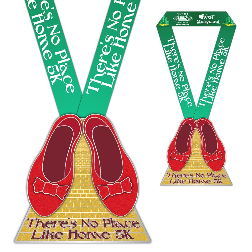 There s No Place Like Home 5K Virtual Charity Race Badass Running pany