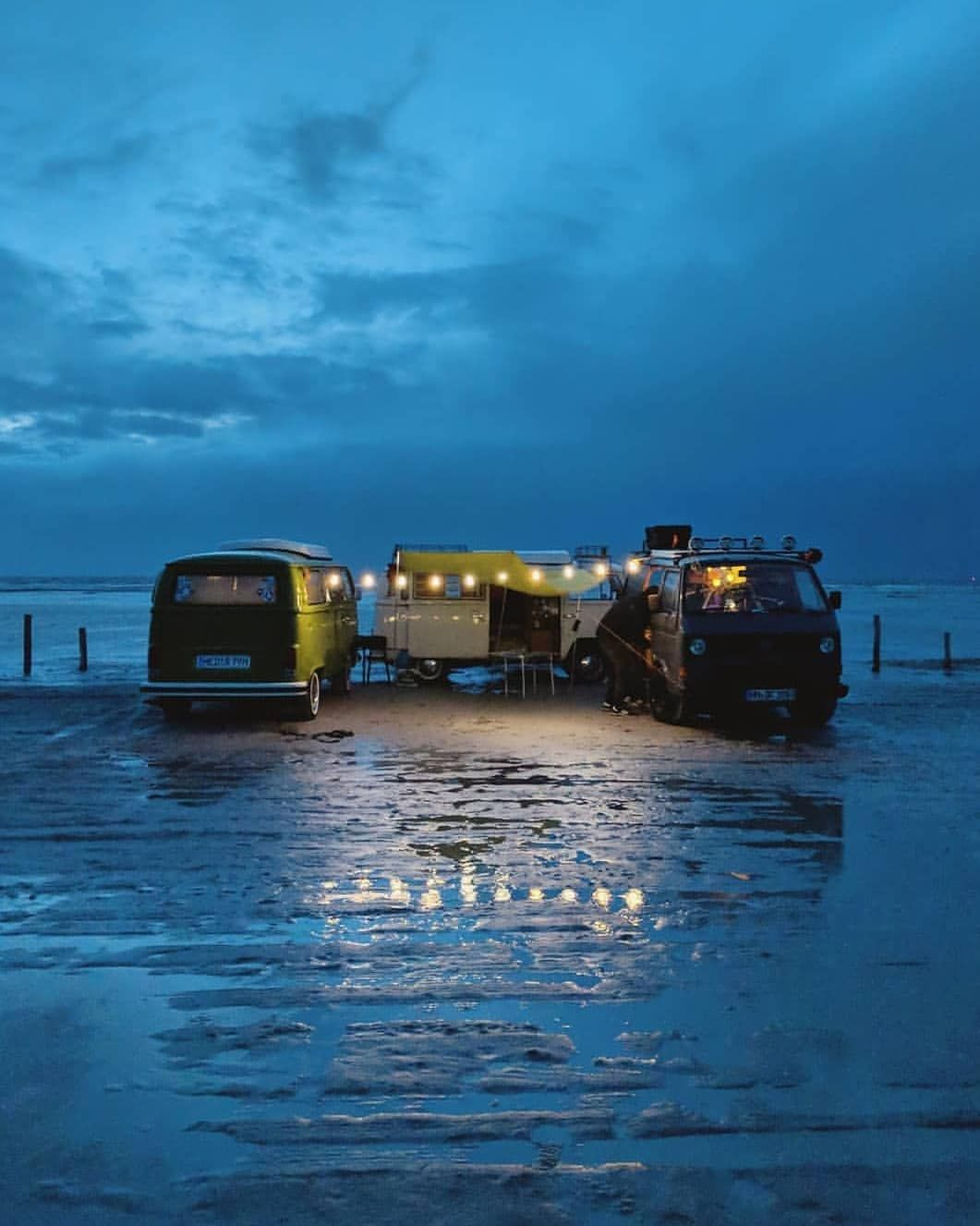Who Are You Camping Here With Sankt Peter Ording By Brenneisen Motorhome Life Pictures Van Life