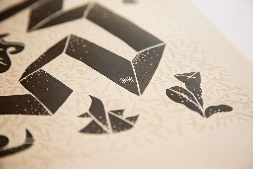 The Beauty of Letterpress: Paper Snake