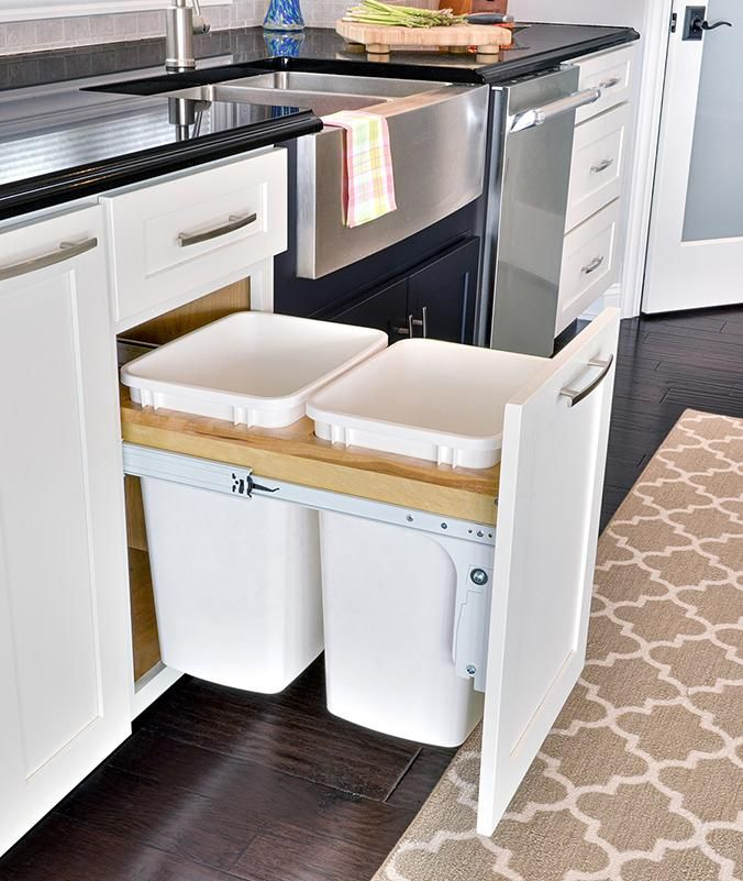 Pull Out Trash And Recycle Bin Cabinet Stephenson Kitchen Trash