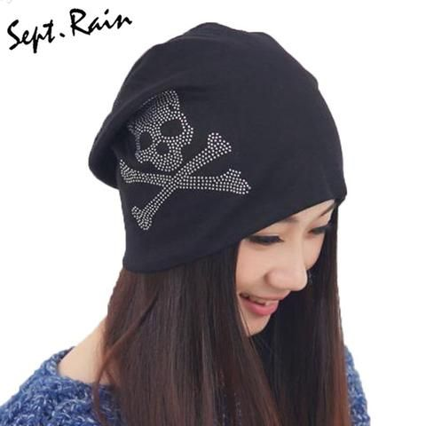 0268399392d New Fashion Casual Autumn Winter Ladies Hats Female Caps Turban Gorro  Balaclava Cotton Skull Cap Women Beanies Hat M0577