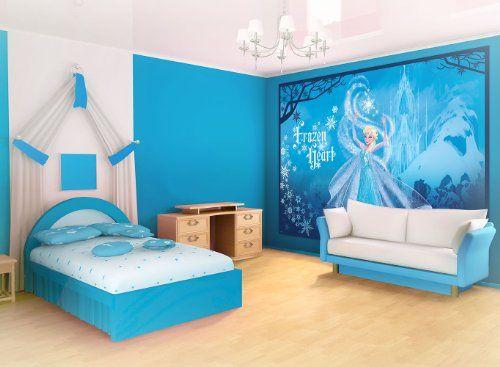 Frozen Slaapkamer Accessoires : Disney frozen elsa wallpaper mural consalnet amazon