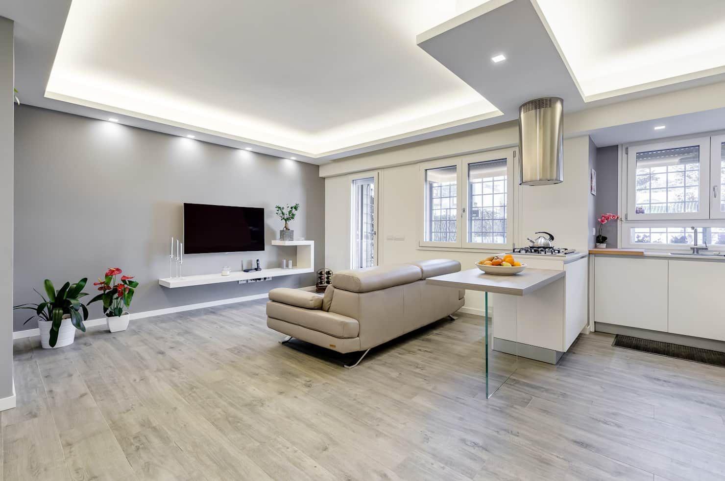Colleverde_minimal design soggiorno moderno di ef ...