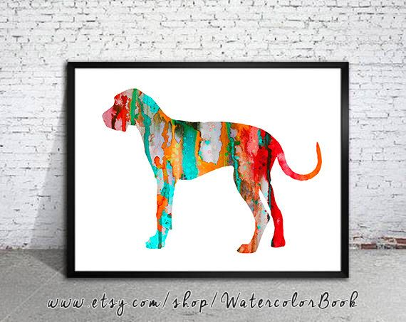Pin By Jill Kernodle On Dog Art Dog Art Watercolor Print