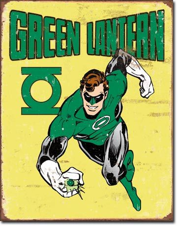 Green Lantern - Retro | Comic Book and Super Heroes Signs | Tin ...