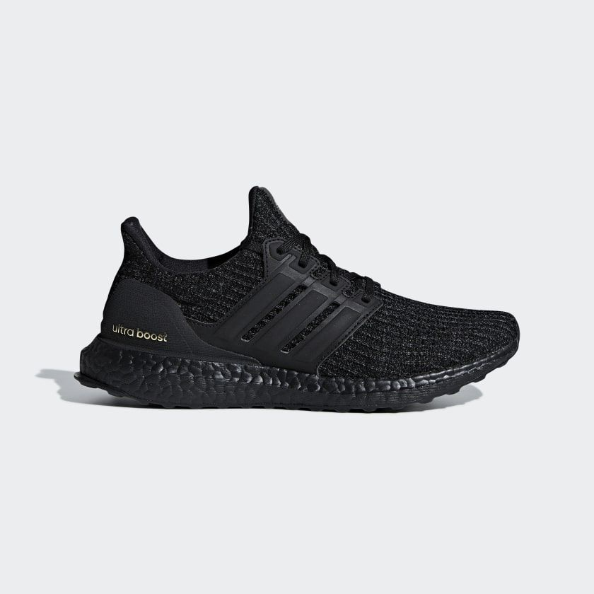 adidas Ultra Boost (Core Black Core Black Gold Met