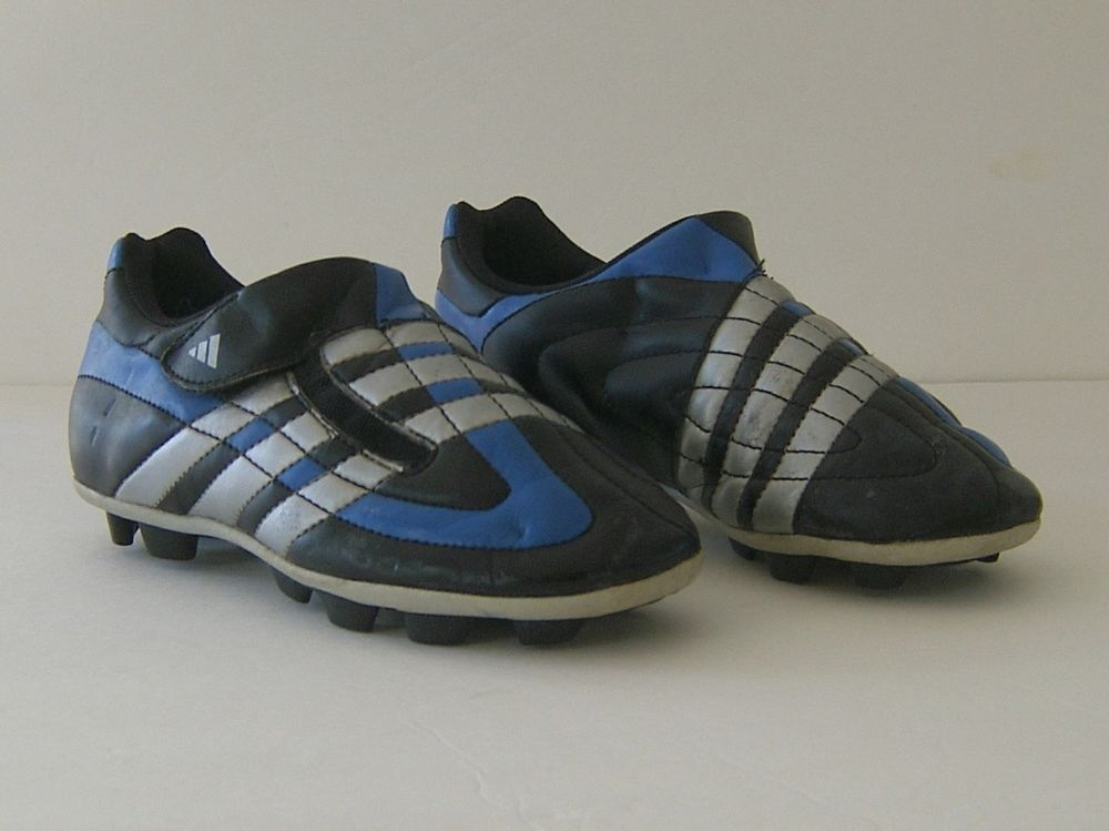 964ce1856 Adidas Soccer Cleats Size 1.5 Traxion Youth Blue And Black Team Sports UK  Size 1 #adidas