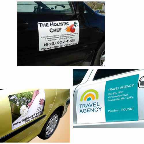Magnetic Car Advertising Panel Custom Magnets Wedding Cars