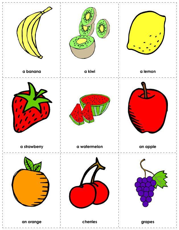 Free Printable Fruit Flashcards | spanish | Pinterest | English ...