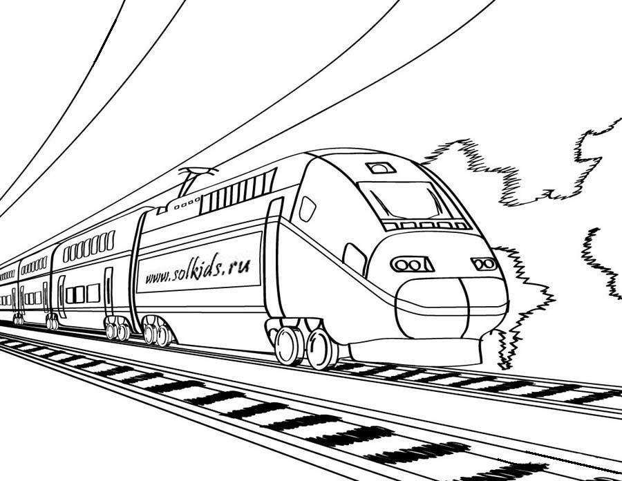 Раскраски детская железная дорога, сценки картинки