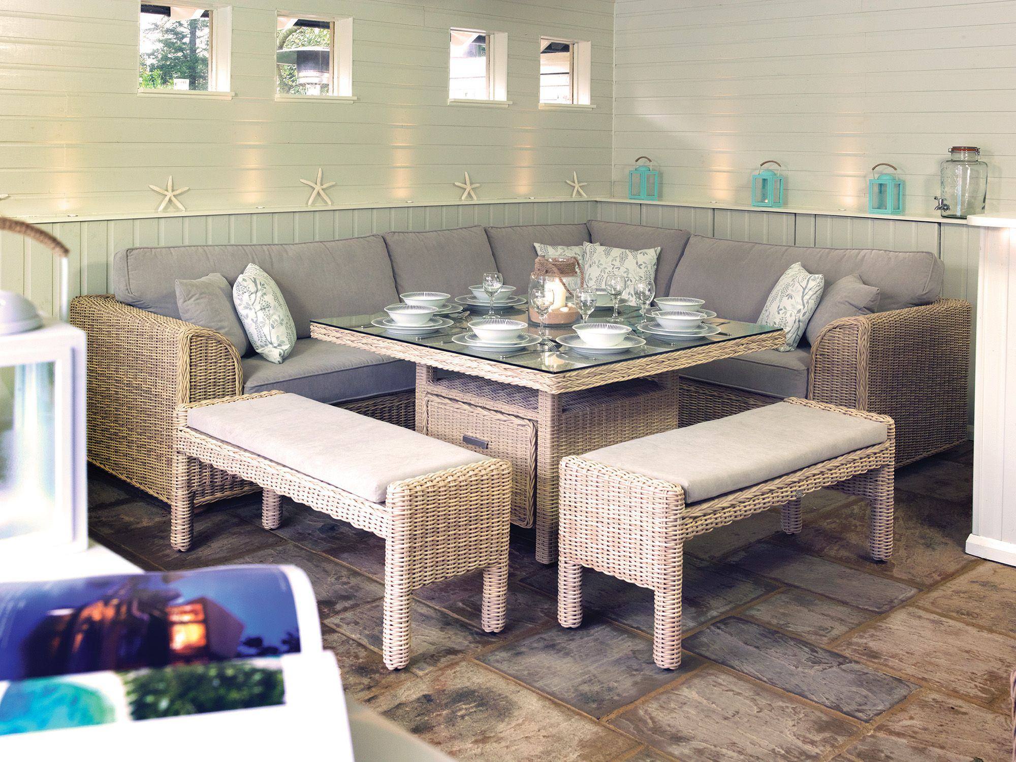 Hamilton Dining In Lucca Pebble Fabric http://bit.ly/hamiltonmodular