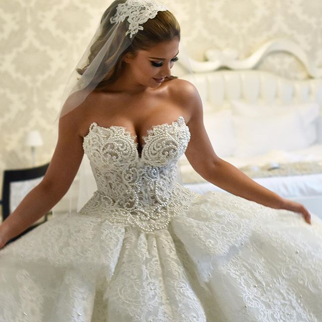 Wedding Venues Near Me Cheap: Our Gorgeous #PninaBride @enkelena Wore This Stunning