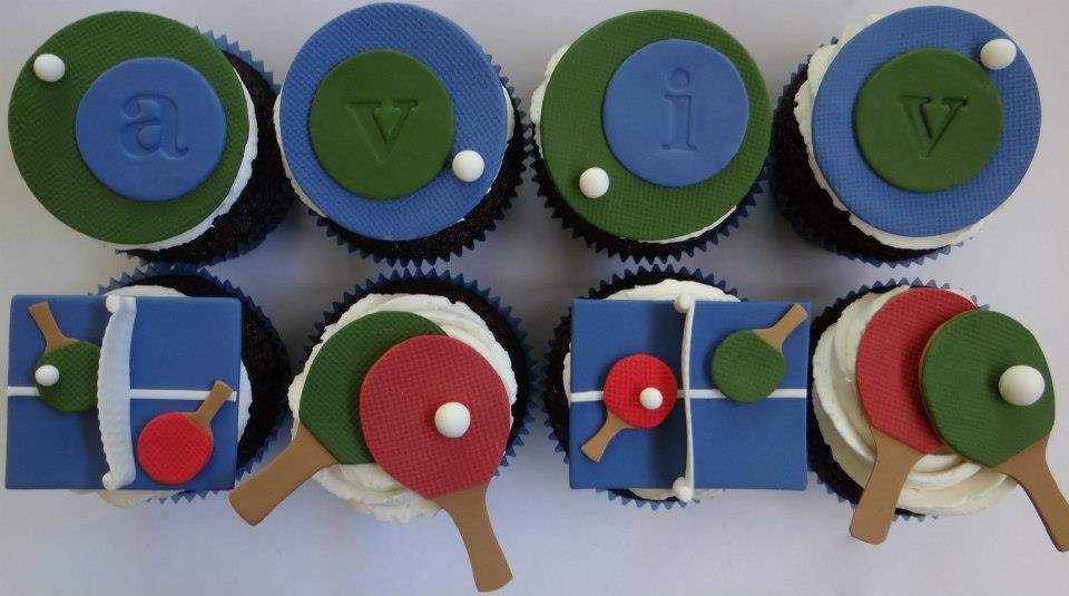 Ping pong cupcakes by Art Cup Cupcakes in Tel Aviv The ...