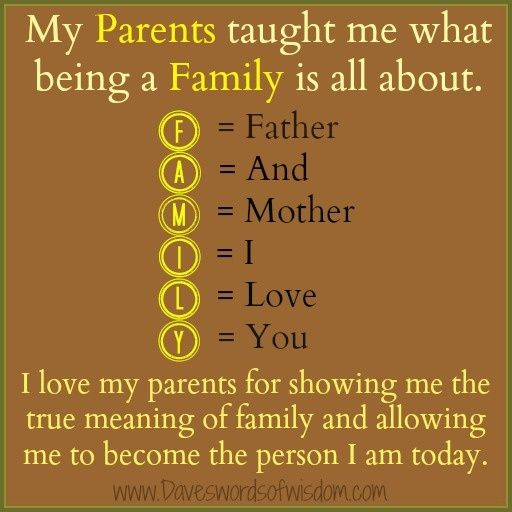 word for parents