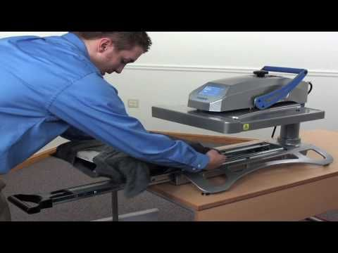 Hotronix Fusion Heatpress Demonstration The Only Heat Press With A Patented Dual Function This Advanced Innovati Heat Press Heat Press Vinyl Vinyl Cutter