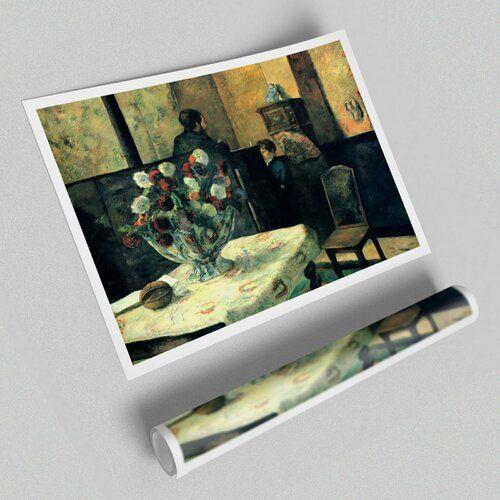 Photo of Poster Interieur des Malers der Rue Carcel von Paul Gauguin East Urban Home Größe: 84,1 cm H x 118,9 cm B