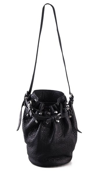 Alexander Wang Diego Bucket Bag with Silver Hardware OMG totally what I want