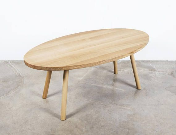 On Black Friday Sale Until November 28 11pm This Oval Oak Coffee Table With An All Natural Fin Mid Century Modern Coffee Table Oak Coffee Table Coffee Table