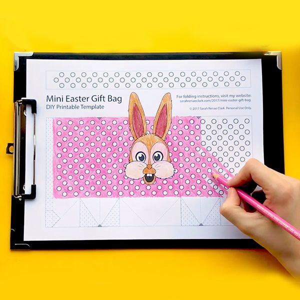 How to make a mini easter gift bag easter gift bags template and make your own mini easter gift bags with this free template and easy tutorial by sarah renae clark negle Image collections