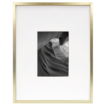 gold scheme metal frame brass 11x14 matted for 5x7 photo room essentials - Metal Picture Frames