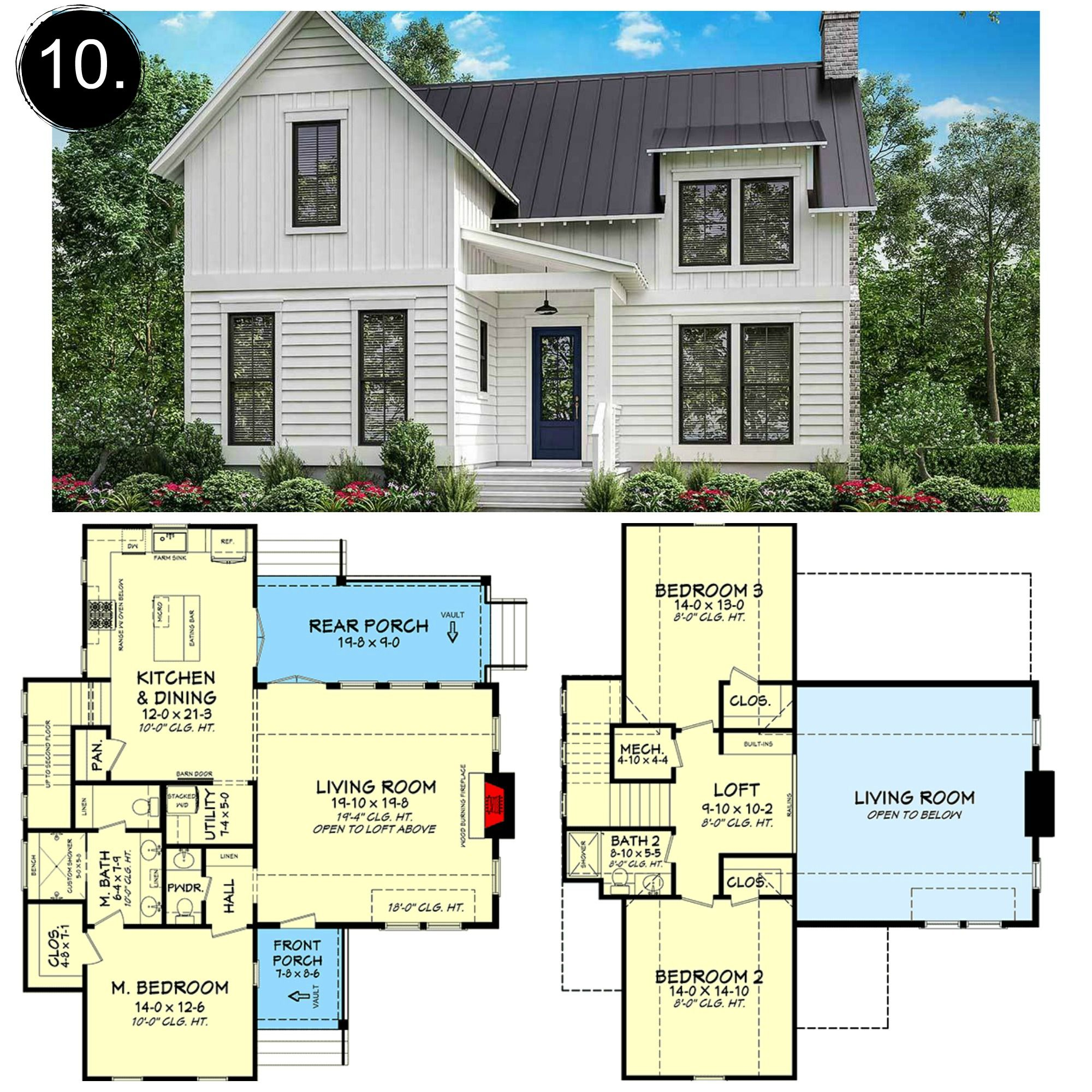 10 Floor Plans Under 2 000 Sq Ft Rooms For Rent Blog Farmhouse Floor Plans Modern Farmhouse Floorplan Floor Plans