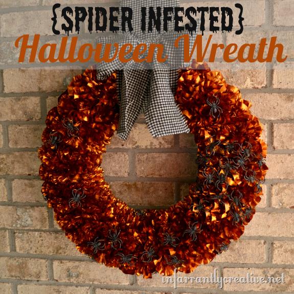 Halloween Wreath {Spider Infested} - Infarrantly Creative