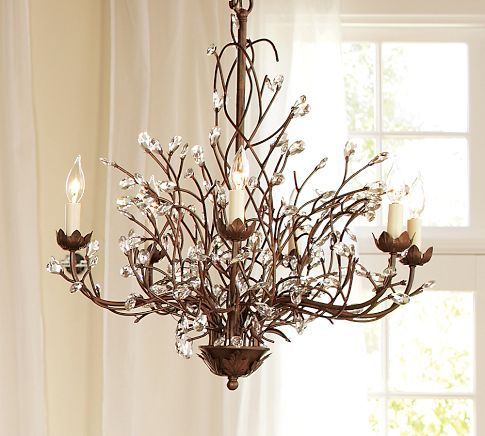 Saw this chandelier in person this past weekend gorgeous los camilla 6 arm chandelier twig chandelierpottery barn mozeypictures Choice Image