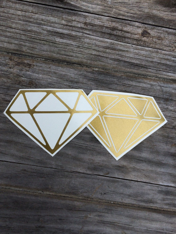 Diamond Vinyl Decals In Gold Vinyl Stickers Laptop Decal