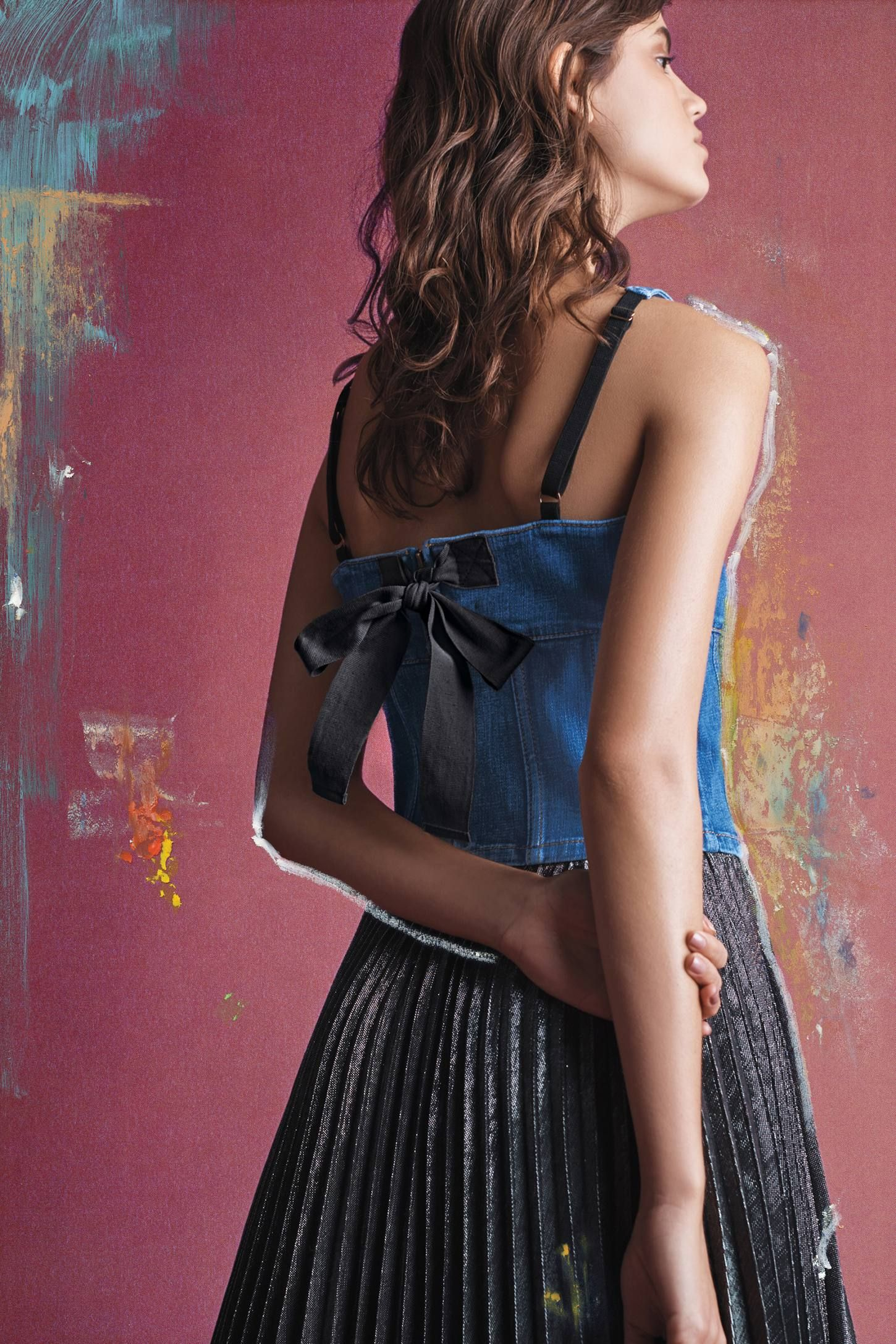 ce195a56e Shop the Denim Corset Cami and more Anthropologie at Anthropologie today.  Read customer reviews, discover product details and more.