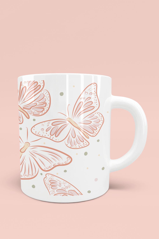 Pretty Butterflies Vector drawing Coffee Mug in 2020