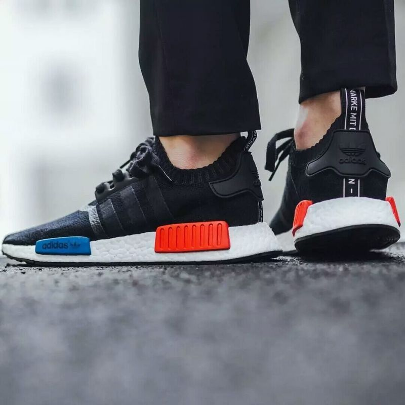finest selection b169c 24272 norway men adidas nmd r1 runner primeknit dark blue 992aa bc0ce