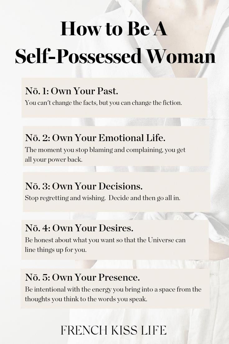 How To Be A Self Possessed Woman Self Quotes Self Help