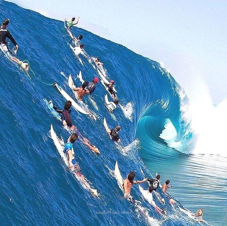 Big orange crush extreme surfer illustration surfing