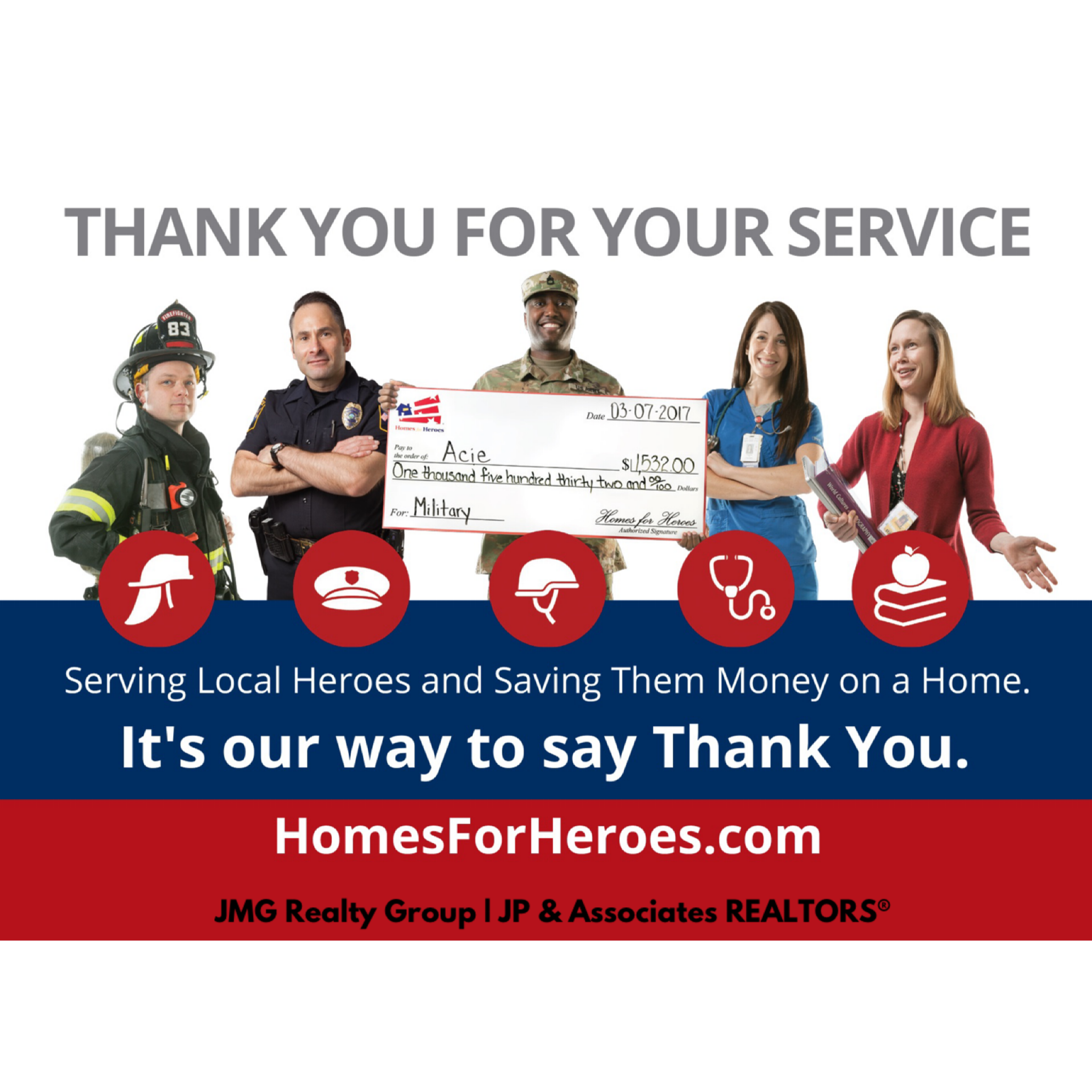We're committed to serving heroes & saving them money on a