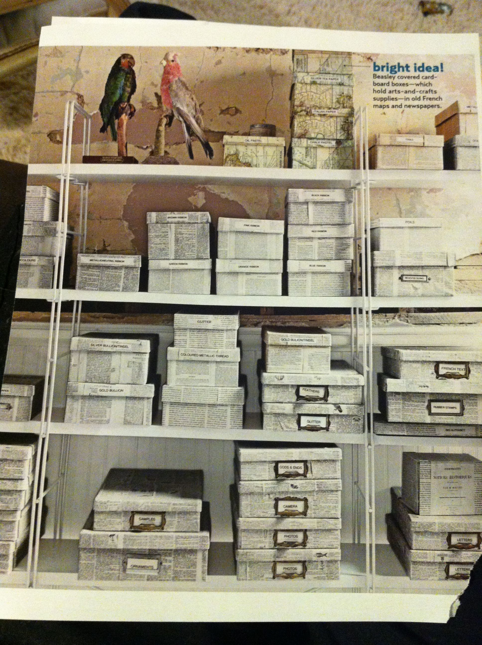 Remember when I did this for our closet (using pages from that book of organization tips)?