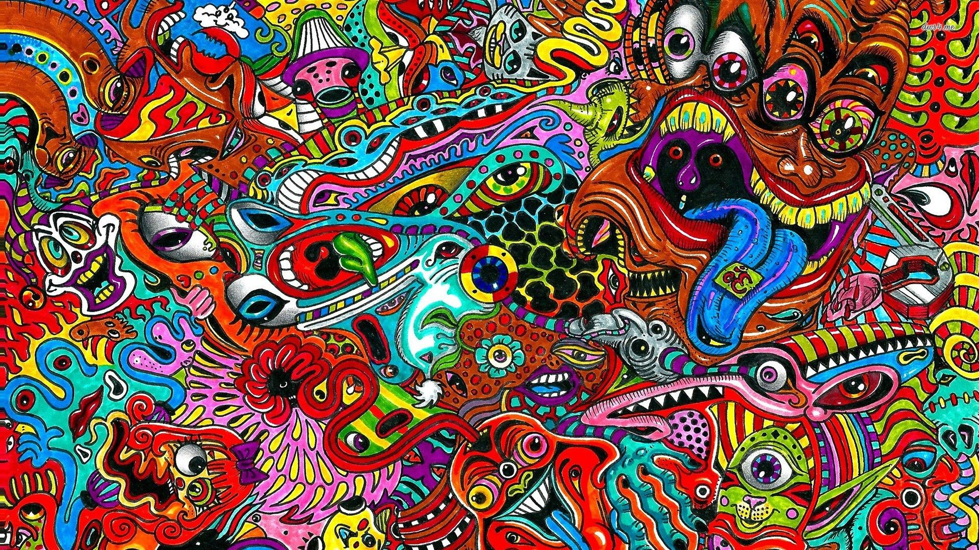 Psychedelic Background Wallpaper HD Psychedelic art
