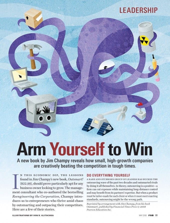 octopus-arm-yourself-company-competition-illustration-editorial ...