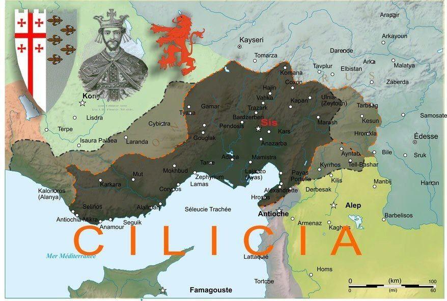Armenian Kingdom of Cilicia now occupied by