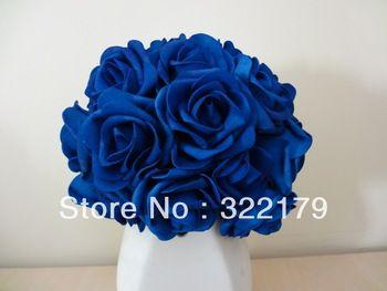 Blue silk flowers for centerpieces 100x artificial flowers royal blue silk flowers for centerpieces 100x artificial flowers royal blue roses for bridal bouquet wedding mightylinksfo