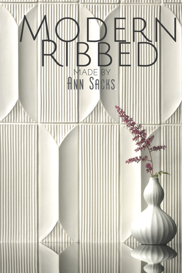 Modern Ribbed A 3 Dimensional Ceramic Tile Collection Is A Welcome