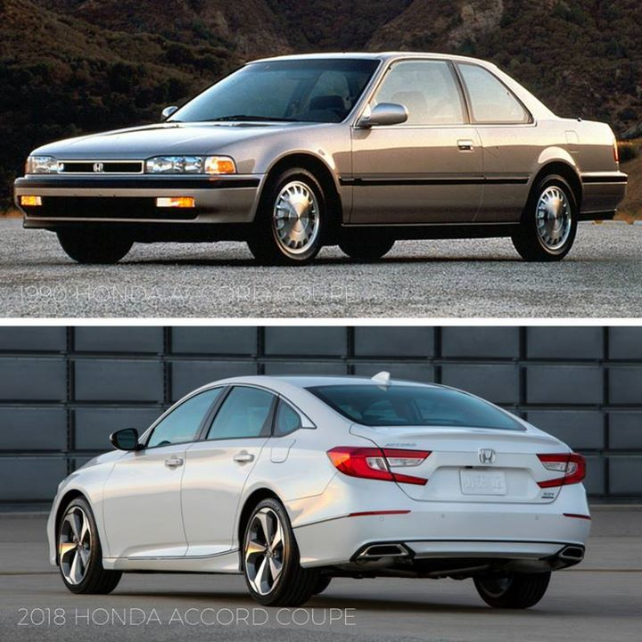 Tbt 1990 Honda Accord Coupe Vs 2018 Honda Accord Coupe
